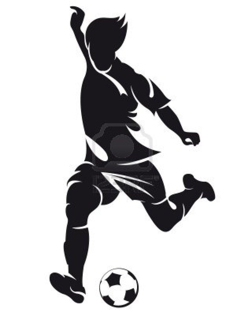 Girl Soccer Silhouette Vector The gallery for -->...